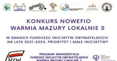 Konkursu NOWEFIO – Warmia Mazury Lokalnie 5